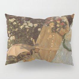 Monet- Women in the Garden, nature,Claude Monet,impressionist,post-impressionism,painting Pillow Sham