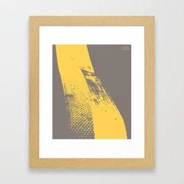 Stripe (Yellow) by Matthew Korbel-Bowers for Covell & Company Framed Art Print