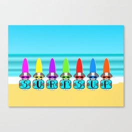 Shih Tzu Surf's Up Canvas Print
