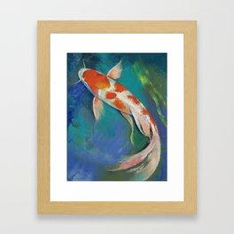 Kohaku Butterfly Koi Framed Art Print