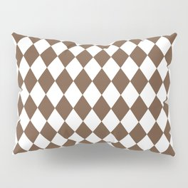 Rhombus (Coffee/White) Pillow Sham