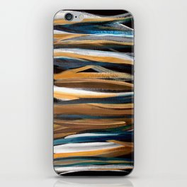 Brush Strokes on a Black Background iPhone Skin