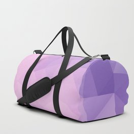 Triangles design in pink and purple colors Duffle Bag