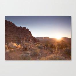 Setting Desert Sun Canvas Print