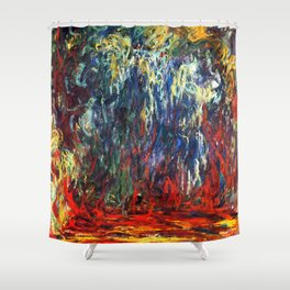 "Claude Monet ""Weeping Willow, Giverny"", 1922 Shower Curtain"