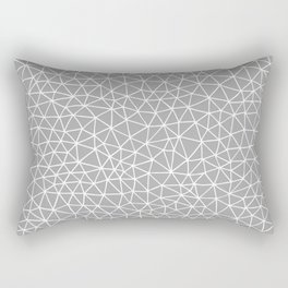 Connectivity - White on Grey Rectangular Pillow