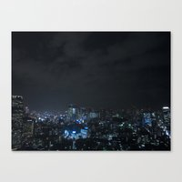 tokyo Canvas Prints featuring TOKYO by Olle Goto