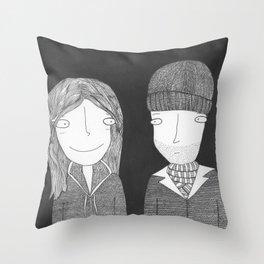 Joel & Clementine Throw Pillow