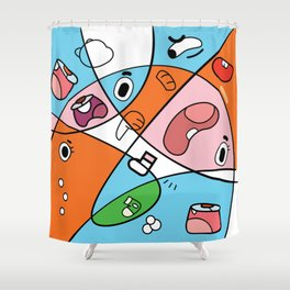 Gumball contemporain Shower Curtain