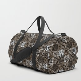 pattern of leaves and flowers Duffle Bag