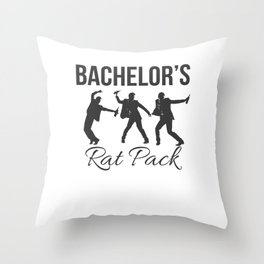 Marriage Bachelor Party Stag Night Bridegroom Groom Bachelor Rat Pack Gift Throw Pillow