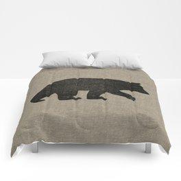 Black Bear Silhouette Comforters
