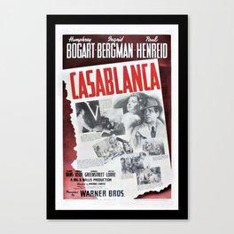 Vintage Casablanca Movie Poster Lithograph Wall Art Canvas Print