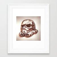 storm trooper Framed Art Prints featuring Storm Trooper by scottpratherpaints