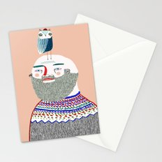 Man and Owl. Stationery Cards