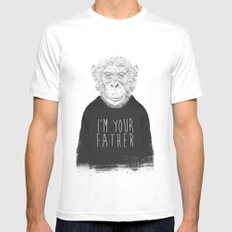 I'm your father Mens Fitted Tee White LARGE