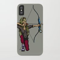archer iPhone & iPod Cases featuring Archer (variation) by Natalie Easton