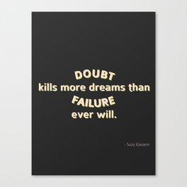 Doubt Canvas Print