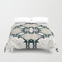 Victorian Art Deco Medieval Pattern light gray SB21 Duvet Cover