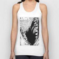 jaws Tank Tops featuring Jaws by Sinpiggyhead