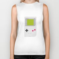 gameboy Biker Tanks featuring #54 Gameboy by MNML Thing
