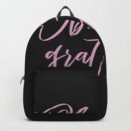 Obsessively Grateful black-pink Backpack