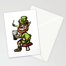 Wasted Leprechaun Stationery Cards
