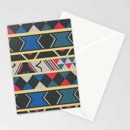 Ndebele red, yellow, blue Stationery Cards