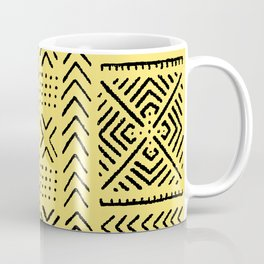 Line Mud Cloth // Yellow Coffee Mug