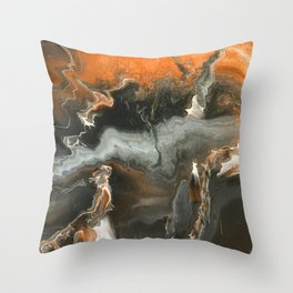Orange Lightning Throw Pillow