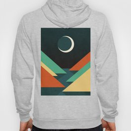 Quiet stream under crescent moon Hoody