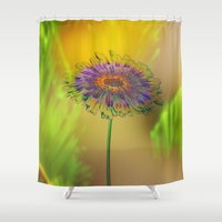 good morning Shower Curtains featuring Good Morning! by Klara Acel