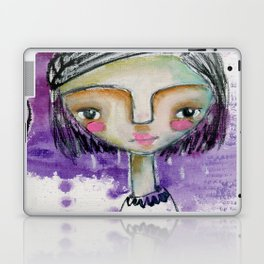 Girl in Purple Laptop & iPad Skin