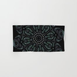 Dark Mandala #4 Hand & Bath Towel