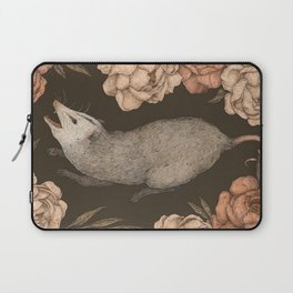 The Opossum and Peonies Laptop Sleeve