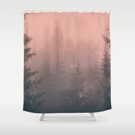 Pink Forest Shower Curtain