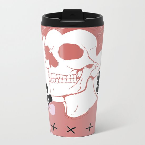 SKULL SHIT Metal Travel Mug