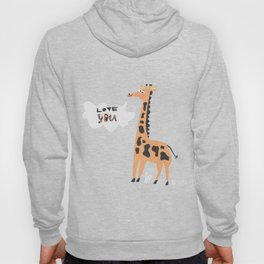 Love Giraffe Hoody