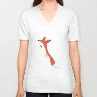 mr fox V-neck T-shirts featuring Mr. Fox by justdan