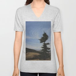 Windblown Tree Unisex V-Neck