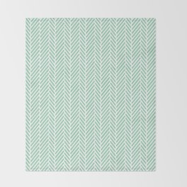 Herringbone Mint Inverse Throw Blanket