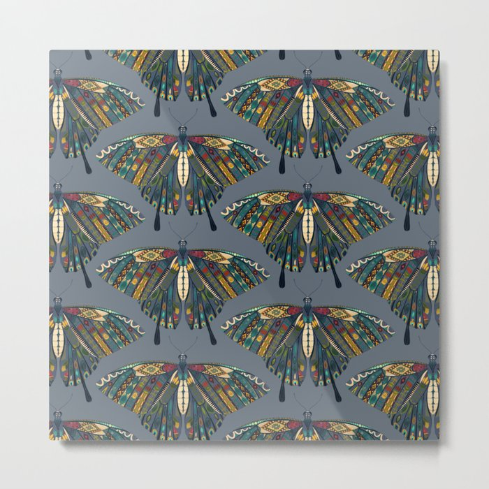 swallowtail butterfly indigo Metal Print