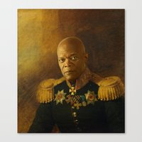 replaceface Canvas Prints featuring Samuel L. Jackson - replaceface by replaceface