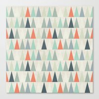 triangles Canvas Prints featuring Triangles by Dizzy Moments