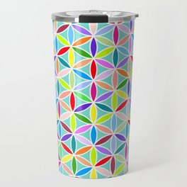 Flower of Life Pattern – Multicoloured Travel Mug