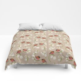 Brown-capped rosy finch Comforters