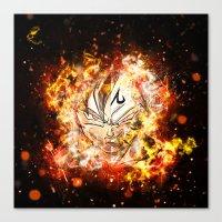 dbz Canvas Prints featuring Goku Vegeta DBZ Face by K2idesign