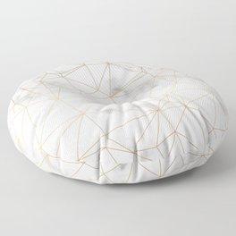 Marble Gold Geometric Texture Floor Pillow
