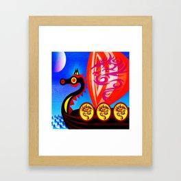 TOWARDS VALHALLA Framed Art Print