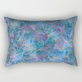 Frozen Leaves Rectangular Pillow